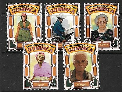 Dominica Sg2158/62 1996 Local Entertainers  Mnh