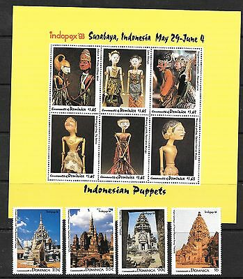 Dominica Sg1739/48 1993 Asian Stamp Exhibition Mnh