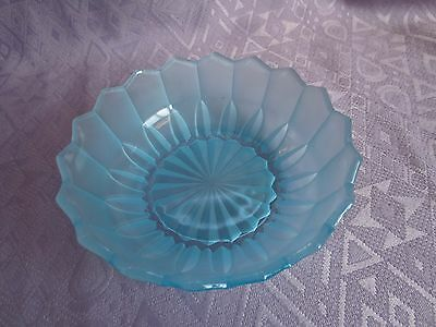Frosted Blue Glass Bowl
