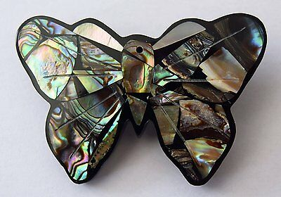 Abalone Multi Shell Butterfly Brooch - Handcrafted