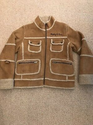 Replay & Sons Girls Sheepskin Jacket, Age 8 Years, Excellent Condition