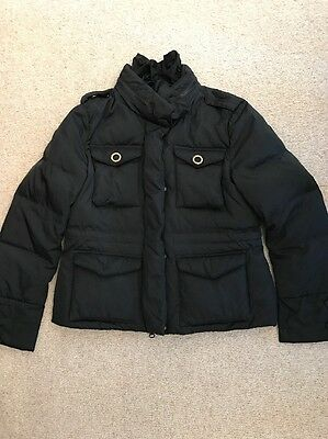 Monnalisa Black Padded Coat, Age 10 Years, Excellent Condition