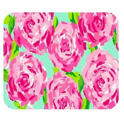 New Lilly Pulitzer Roses Mouse Pad Mats Mousepad Hot Gift
