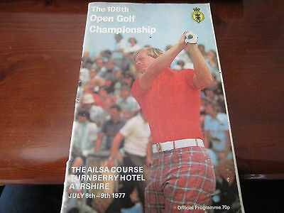 106th Open Golf Championship - 1977 - Programe,Order of Play,Plan