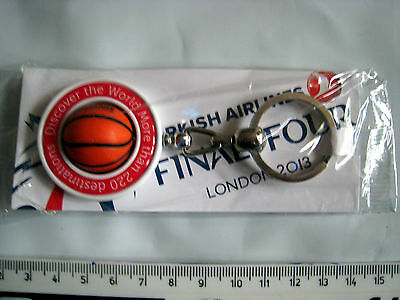 TURKISH AIRLINES KEYRING ROTATING BASKETBALL FINAL FOUR LONDON 2013 j12