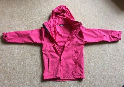 Girls  higear Shower Proof Coat With Fold Away Hood  Age 9/10 Yrs