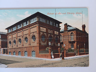 Colour Postcard Of The School Of Art And Library, Stoke-On-Trent