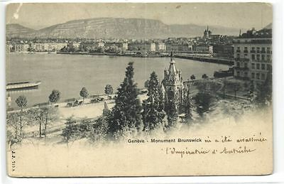 1 postcard Switzerland GE Geneva Geneve Monument Brunswick