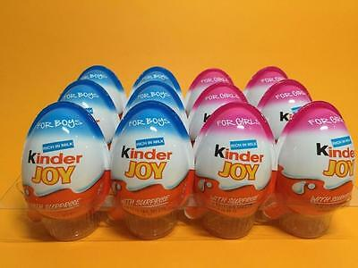 6 X *3 Girls* *3 Boys*- Chocolate Kinder Joy Surprise Eggs Gift Inside Kids