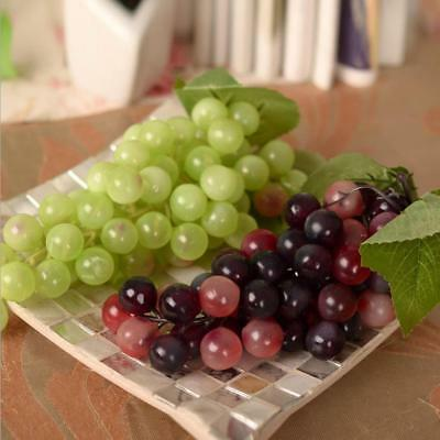 Plastic Fruit Artificial Fake Grapes Lifelike Grape Display Stage Home Decor S/L