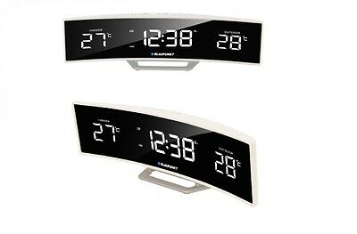 BLAUPUNKT CR12WH Therometer Time Projection Radio clock white Radio Display