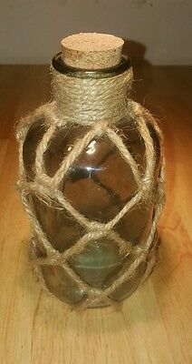 Glass Bottle Cork and Rope Nautical