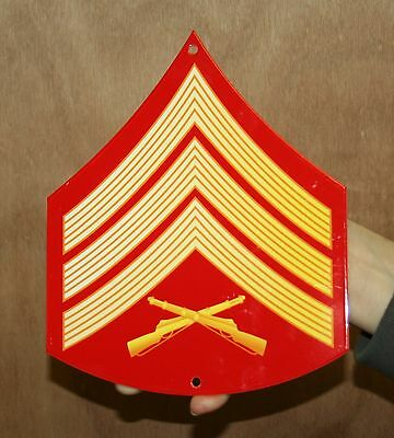 USMC ENLISTED RANK METAL SIGN E-5, IN COLOR  - PhotoSTEEL