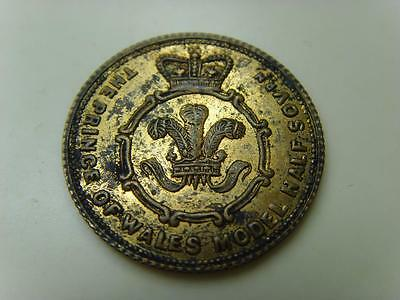 The Prince Of Wales Model Half Sovereign Victoria Token British Great Britain
