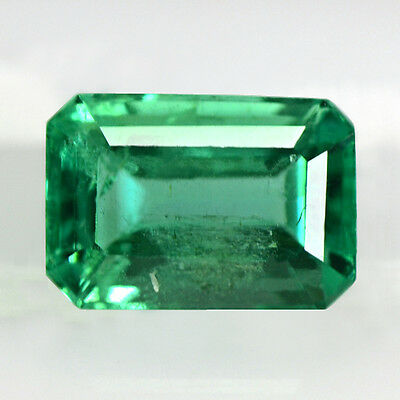 0.80 Cts Natural Top Lustrous Green Emerald Loose Octagon Cut Zambia Untreated $