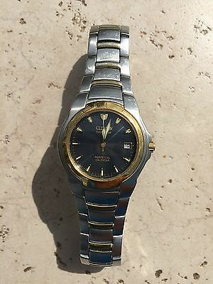 Mens Citizen Eco Silver/gold Tone Perpetual Calender Watch For Parts Or Repair