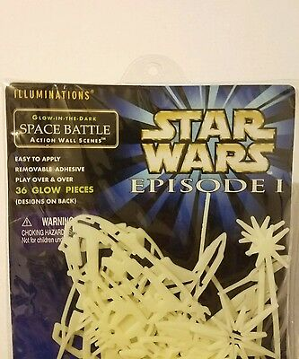 Star Wars Episode I Illuminations Glow In the Dark Space Battle Wall Scenes 1999