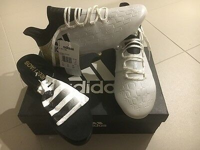 Football/soccer boots Adidas X 16.1 SG - White/Core black/gold metallic