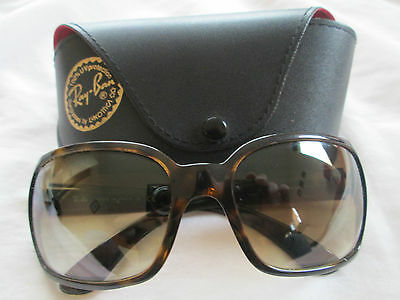 Ray Ban brown tortoiseshell frame sunglasses. RB 4068. With case.