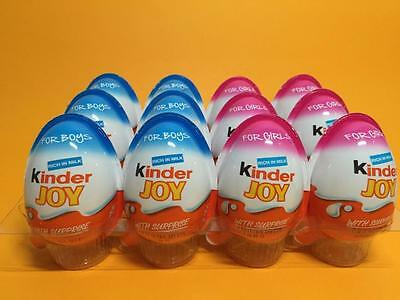 12 X 6 *BOYS *6 GIRLS - Chocolate Kinder Joy Surprise Eggs Gift Inside Kids Fun