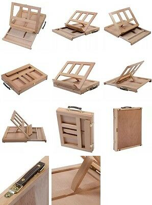Art drawing painting wood table sketching box board desktop durable,with pencils