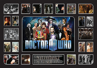 Dr Who Oversize Memorabilia 100X70cm Black Limited Edition FRAMED