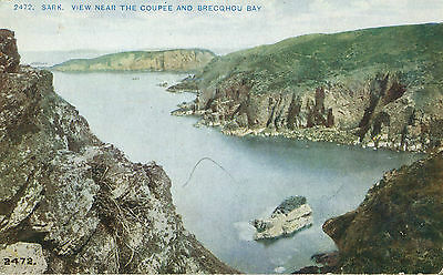 1910s Postcard View near the Coupée and Brecqhou Bay SARK Channel Islands