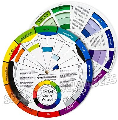 Pocket Colour Wheel. Paint Mixing Learning Guide. Art Class Teaching Tool. 70404