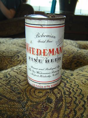Vintage Wiedeman Bohemian Live Flavor in the Bubbles  Flat Top Beer Can