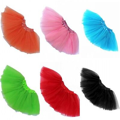 US Lovely Girls Ballet Dance Tulle Tutu Princess Party Fancy Skirt Mini Dress