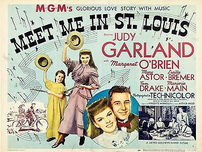 "Meet me in St Louis 16"" x 12"" Reproduction Movie Poster Photograph"