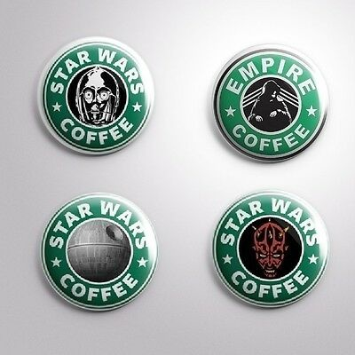 Star Wars Coffee Pins Badges Buttons