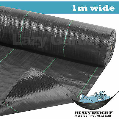 1m wide 100gsm weed control fabric garden landscape ground cover membrane