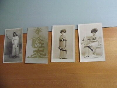 Collection of 4 Old Postcards of ACTRESSES early 1900