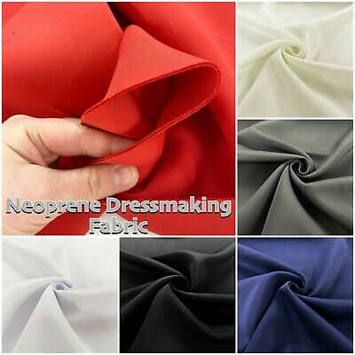 """2mm Thick Neoprene Stretch Fashion Dress Making Craft Fabric Material 60"""" Wide"""