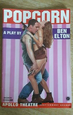 Popcorn - A Play By Ben Elton Programme From The Apollo Theatre