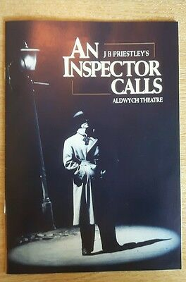 An Inspector Calls By J B Priestley - Aldwych Theatre Programme
