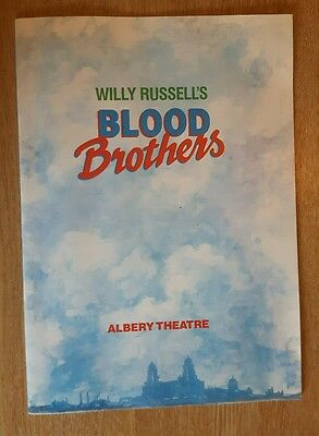 Blood Brothers By Willy Russell Alberry Theatre Programme