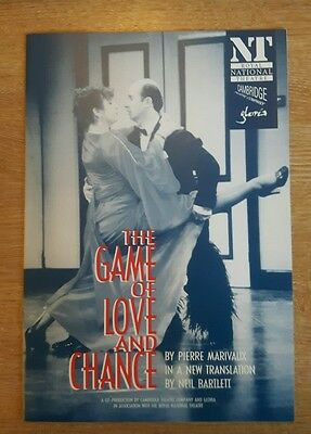 The Game Of Love And Chance By Pierre Marivaux Royal National Theatre Programme