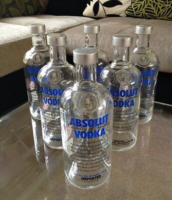 100 X 700ml Absolut Vodka Bottle.Glass Empty. 0,7 Litre. Display,Arts And Crafts