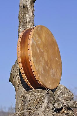 21' Double Headed Drum,  Deer Hide on both sides, handcrafted
