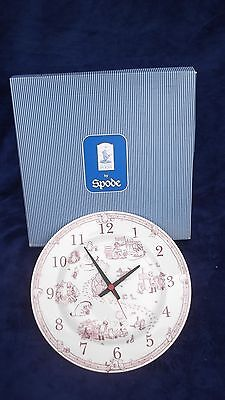 """Spode - Winnie The Pooh Disney Collection - Pink 10"""" Clock Plate - Mint Boxed"""