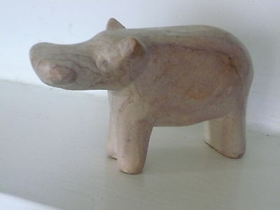 SOAPSTONE HIPPOPOTAMUS HIPPO FROM MOMBASA KENYA 6cm HIGH see details/all photos