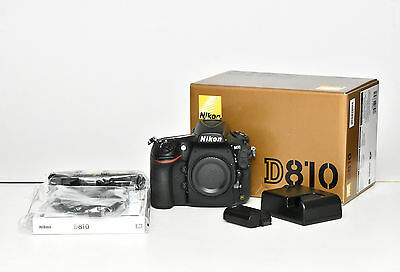 Nikon D810 DSLR body with accessories