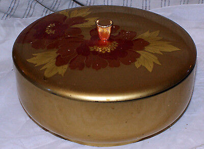 Vintage 1950's Japanese Gold Colored Lacquer Ware Candy Dish/Bowl