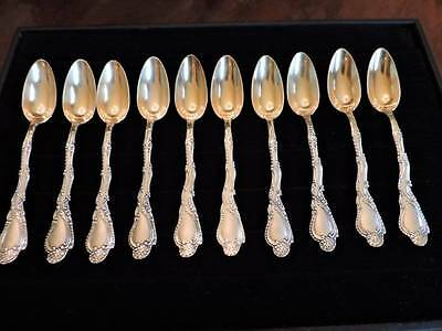 Vintage Whiting Gorham Sterling Silver ? Spoons Sea Shell Pat 91 Set Of 10