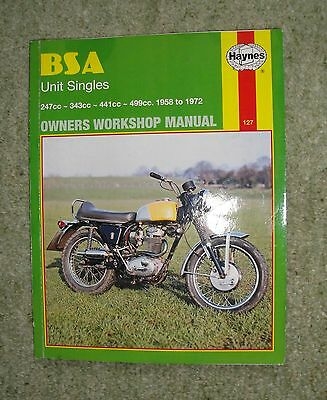 Haynes Manual for BSA Unit Singles 1958 to 1972