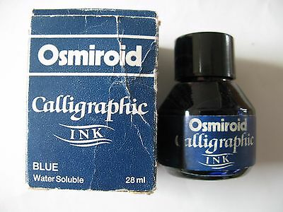 Vintage. Osmiroid Calligraphic Ink.   Blue.  28ml.  Boxed.