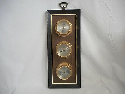 Vintage Antique Springfield thermometer barometer humidity Wall Hanger