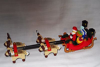 New Lego Santa Claus With Sleigh And Reindeer, Delivering Gifts From 10245